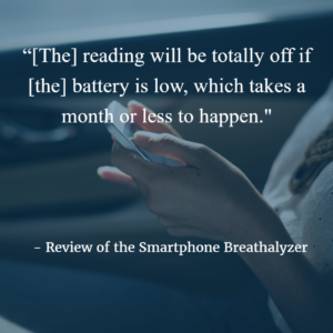 Problems with smartphone breathalyzers